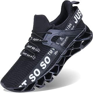 JSLEAP Mens Walking Shoes Running Non Slip Blade Type Sneakers