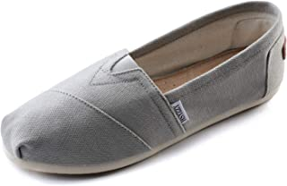 Women's Canvas Shoes Slip-on Ballet Flats Classic Casual Sneakers Daily Loafers