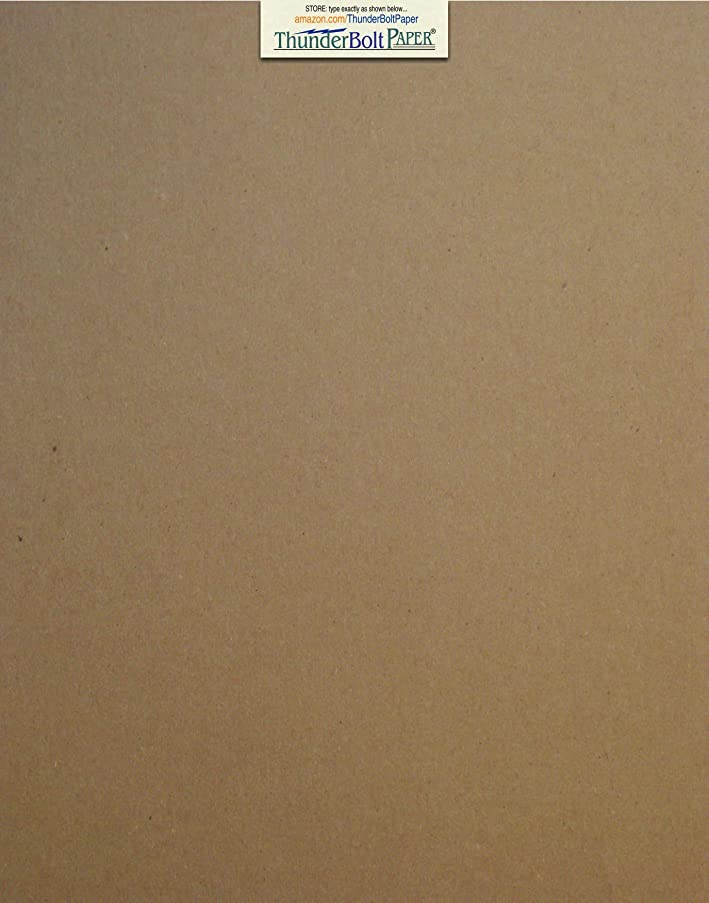 25 Sheets Chipboard 20pt (point) 11 X 14 Inches Light Medium Weight Scrapbook|Frame Size .020 Caliper Thick Cardboard Craft|Ship Brown Kraft Paper Board