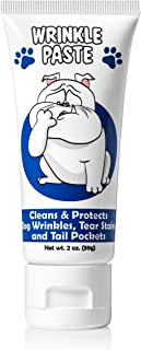 Squishface Wrinkle Paste - Cleans Wrinkles, Tear Stains and Tail Pockets - 2 Oz, Anti-Itch, Great for Bulldogs, Pugs and F...