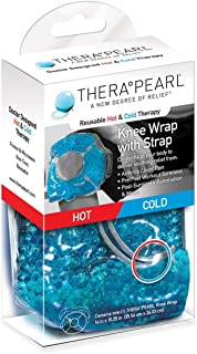 TheraPearl Reusable Hot & Cold Therapy Knee Wrap With Strap