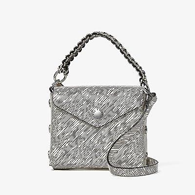 rag & bone Micro Atlas Crossbody (Black/White) Handbags