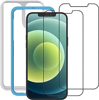 NIMASO ガラスフィルム iPhone12 / iPhone 12 Pro /11 / XR 用 保護 フィルム 2枚セット ガイド枠付き