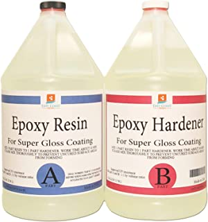 EPOXY RESIN 2 Gal kit CRYSTAL CLEAR for Super Gloss Coating and Table Tops