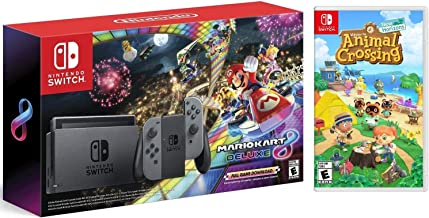 Nintendo Switch HAC 001 with Gray Joy-Con + Mario Kart 8 Deluxe (Full Game Download)..
