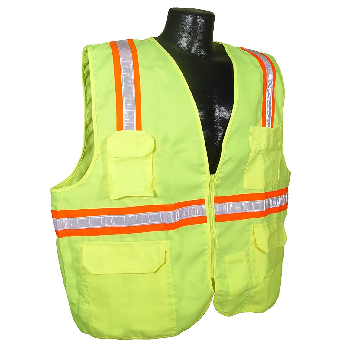 Radians SV61-NZGS-2X Two Tone Solid Economic Surveyor Non Rated Safety Vest, Green, 2 Extra Large