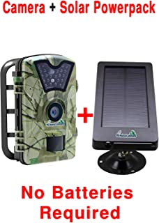 MyCommand Solar Trail Camera 12MP Animal Game Time Lapse Cam with Night Vision Motion Activated, IP66 Waterproof 1080p Spy Outdoor Deer & Wildlife Hunting. (12MP Camera and Solar Power Pack Bundle)