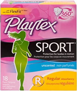 Playtex Tampons Sport Regular 18 Count Unscented