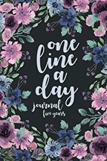 one line a day journal five year: Five Year Memory Journal Record funny, loving, sad, happy, or poignant moments in life