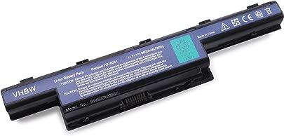 vhbw Li-Ion Akku 6600mAh  11 1V  passend f r Notebook Acer Aspire V3  Aspire V3-771G-53238G75MAII  V3-731  V3-771  Ersetzt den Akkutyp  BT 00607 126