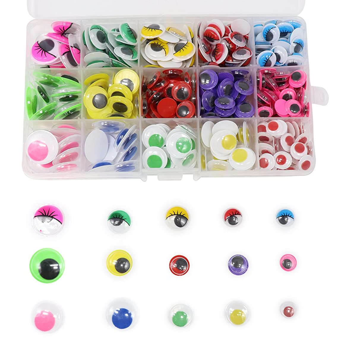 380pcs/bag 10-20mm without Self-adhesive wiggling toy eyes doll accessories