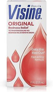 Visine Original Redness Relief Eye Drops for Red Eyes & Eye Irritation, 0.5 fl. oz