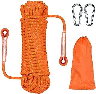 Cuerda de Nailon de 10,5 mm Cuerda est/ática Cuerda de Escalada Cuerda de Seguridad UKNANYSafety para Escalada al Aire Libre 50 Metros