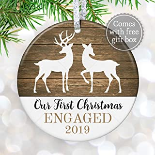 Our 1st Christmas Engaged Ornament 2019, Christmas 2019 Engagement Gift for Couple, First Christmas Fiance, Future Mr & Mrs - 3