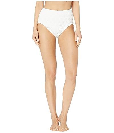 Kate Spade New York Eyelet High-Waist Bottoms (White) Women