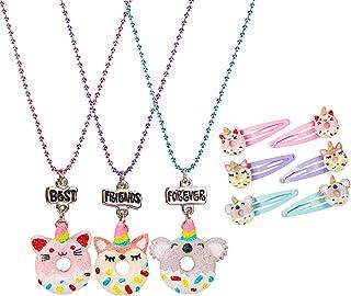 Jojo Siwa BFF Best Friend Donut Charm Pendant Jewelry Necklaces 2pc Set