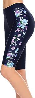 Ekouaer Women's Swim Capris UV Board Shorts Rash Guard Swimsuit Pants Swimwear S-XXL