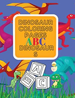 Dinosaur Coloring Pages ABC Dinosaurs