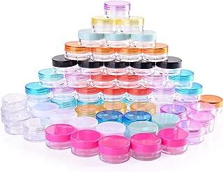60 Piezas Contenedores de plástico, 5g, 12 Colores, Bote de Plástico Tarro Vacío Contenedor de Cosmético para muestras cosmético, Almacenamiento de Cremas