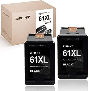 ZIPRINT Remanufactured Ink Cartridge Replacement for HP 61XL 61 Black Ink Cartridge for Envy 4500 5530 5534 5535 Deskjet 2540 1000 1010 1512 1510 3050 Officejet 4630 2620 4635 (2-Pack)