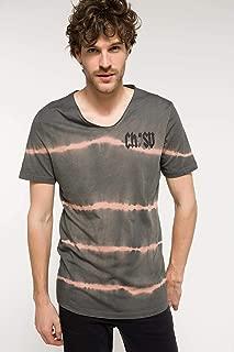 DeFacto Sırtı Yazı Baskılı Uzun T-shirt
