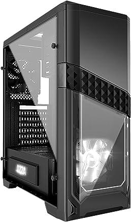AZZA CSAZ-240X Custodia computer Midi-tower, pannello laterale in vetro temperato con EVA antivibrazione PAD, Nero, 510 x 198 x 450 mm - Trova i prezzi più bassi