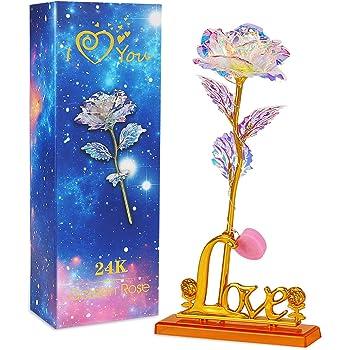 LCCL Schönheit und das Biest Rose Kit, Rose und LED-Licht ...