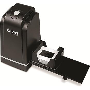 ION Audio Slides Forever - Scanner de Diapositives et de Négatifs 35 mm, USB Numérisation Simple et Rapide, 5 Mpx Haute Résolution, avec Chargeur de Diapositives Rapide pour Mac et PC, Logiciel Inclus