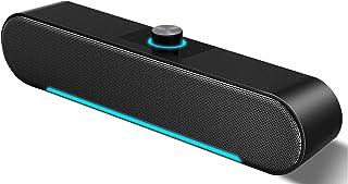 Computer Speakers,LENRUE Wired Computer Sound Bar, Stereo USB Powered Mini Soundbar Speaker for PC Laptop Tablets Desktop...