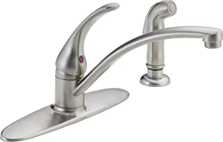 DELTA Foundations Single-Handle Kitchen Sink Faucet, Stainless B4410LF-SS