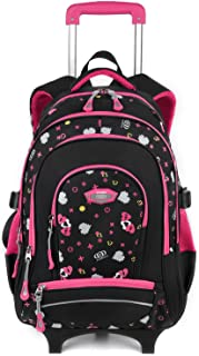 1a0fdd4023be1 Coofit Cartable a Roulette Fille Sac Roulette Fille en Oxford Cartable  Trolley Fille Sac Fille a