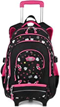 Rolling Backpack for Girls, COOFIT Backpack with Wheeled for Girls Laptop Backpack with Wheeled Roller Backpack