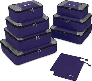 Gonex Rip-Stop Nylon Travel Organizers Packing Bags Purple