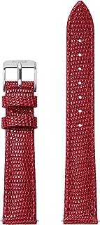 Minuit 16 mm Deep Red Lizard Leather Strap CLS381 Fits: Minuit, La Roche Petite, La Garconne & Triomphe