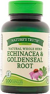 Nature's Truth Echinacea & Goldenseal Root Plus 100 Capsules