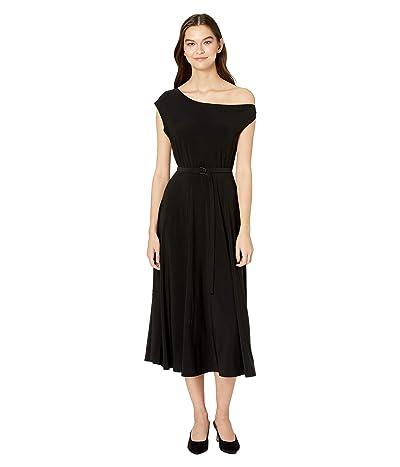 KAMALIKULTURE by Norma Kamali Drop Shoulder Flared Dress to Midcalf (Black) Women