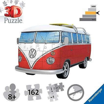 Ravensburger 3D Puzzle VW Bully Erwachsenen-Puzzel 162 Teile Volkswagen T1