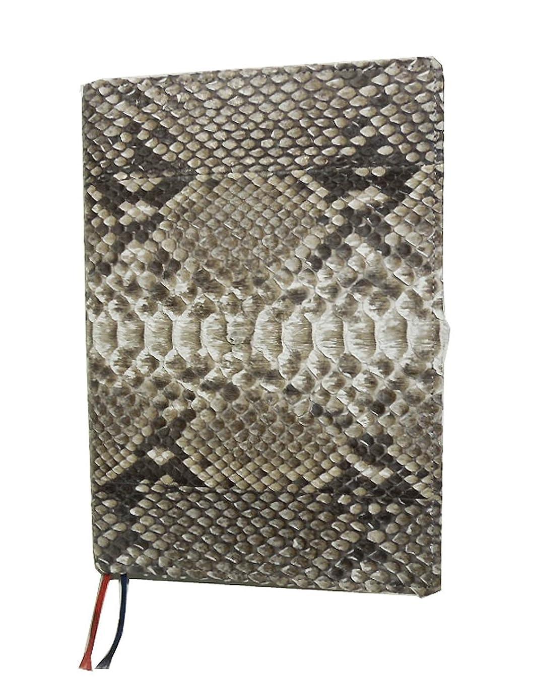 煩わしい中鰐DIARY COVER パイソン本革 年版ダイアリーカバー A5サイズ 蛇革 3color (Natural ナチュラル)