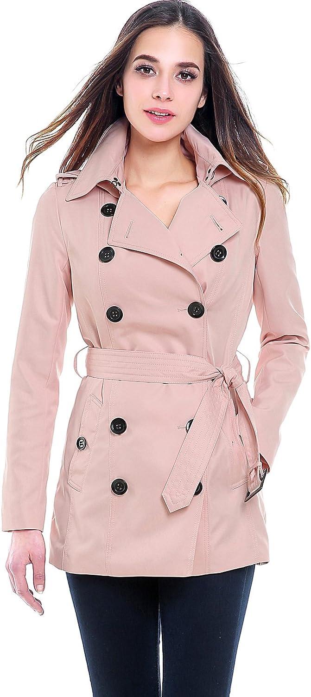 BGSD Women's Tori Classic Hooded Short Trench Coat