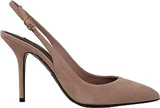 Dolce & Gabbana Pink Suede Leather Slingbacks