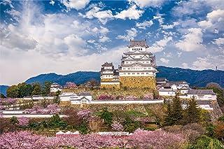 1000ピース ジグソーパズル 桜咲く姫路城(兵庫)(50x75cm)