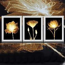 5D Diamond Painting Custom Photo Painting By Numbers - 3pcs Personalised DIY FullFlower Diamond Painting Set Large Picture...