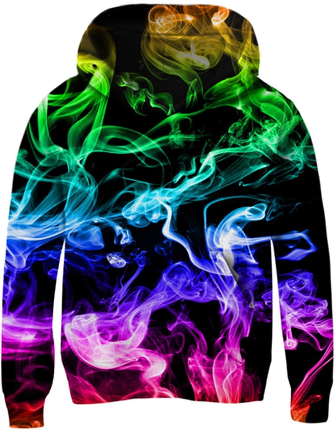 Cutemile Boys Girls Fleece Hoodie 3D Printed Long Sleeve Pullover Sweatshirt with Pocket 5-16 Years