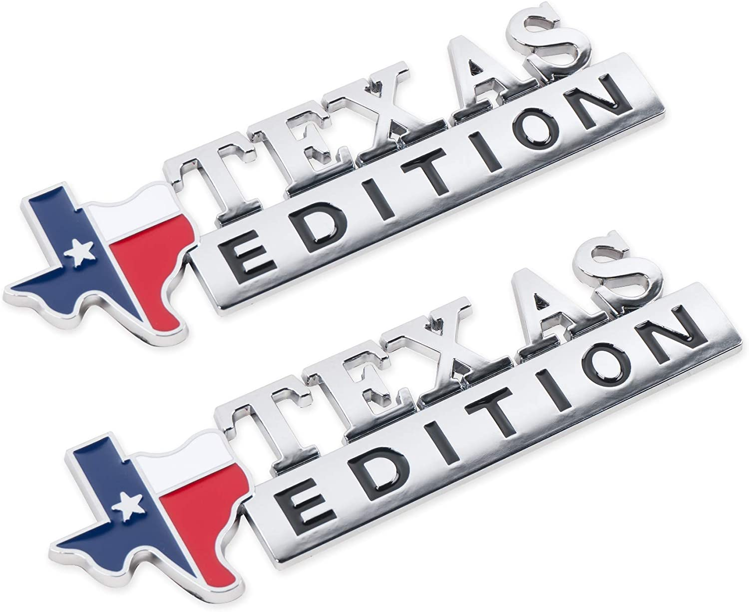 2Pack Virginia Beach Mall 3D Texas Edition Emblem Decal Stickers New Shipping Free for F150 F350 F250