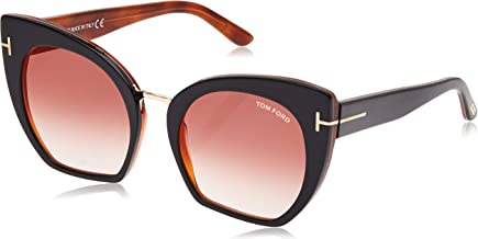 Tom Ford Snowdon FT0237 Sunglasses-52N Dark Havana (Green Lens)-52mm