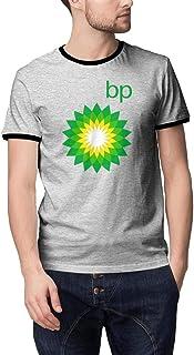 aknhdhdg MenSports BP-Logo- Short Sleeves Breathable 100% Cotton Round NeckT-Shirts