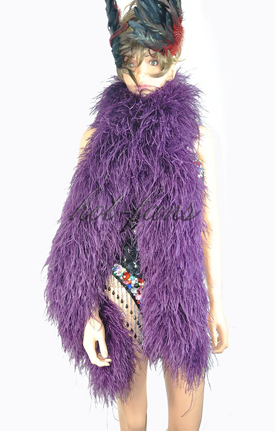 20 ply Inventory cleanup selling sale puple Time sale Luxury Ostrich cm Boa 71