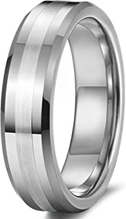 6mm Tungsten Rings for Men Women Wedding Band Engagement Promise Matte Finish Size 6-14