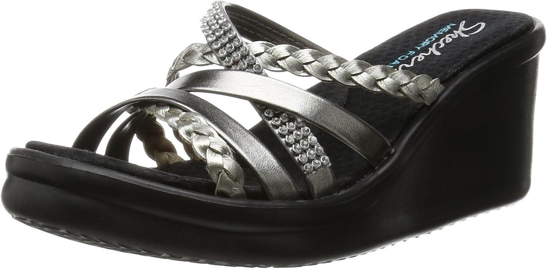 Skechers Dealing full price reduction Award Cali Women's Rumblers-Social Butterfly Sandal Wedge