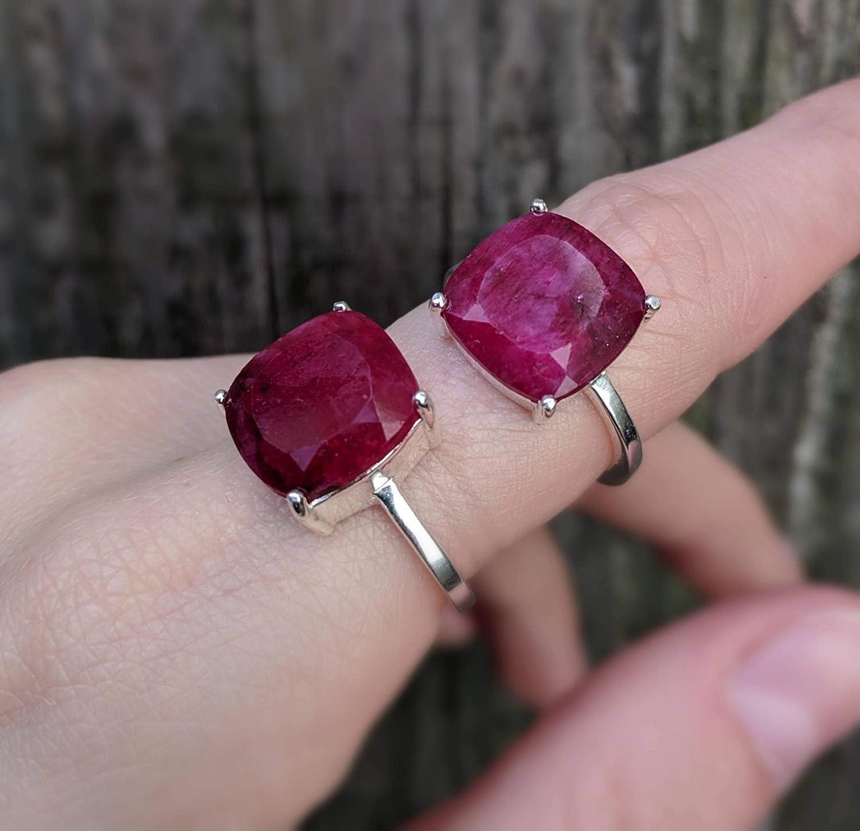 Large Natural Ruby Ring